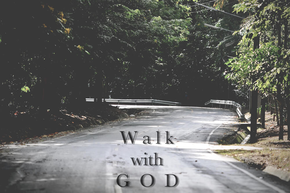 Path with Walk with God on it